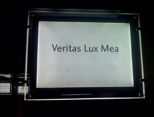 Veritas Lux Mea Indeed