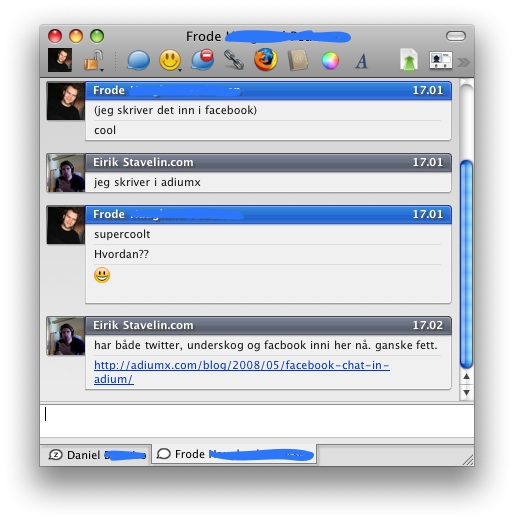 facebook-adium chat funker bra